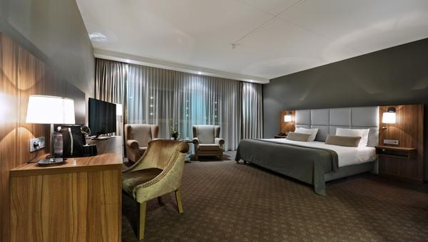 Luxurioser Komfort Zimmer Mit Whirlpool Und Klimaanlage Van Der